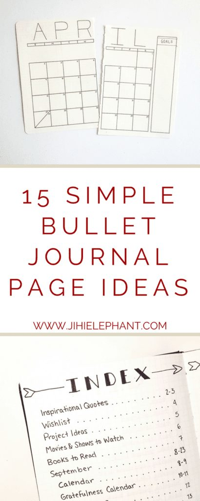 15 Simple Bullet Journal Page Ideas {for the not-so-artsy}
