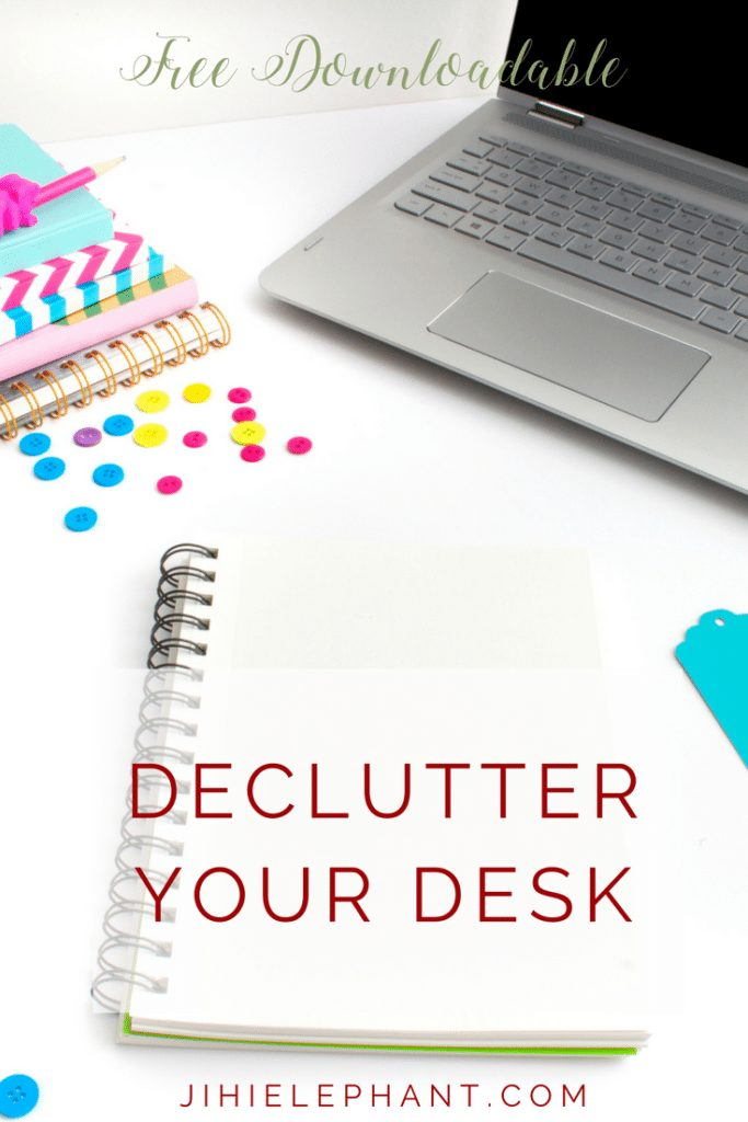 "Your new year's resolution was to ""get organized"" but you just can't seem to. I have just the cure! Here are 6 ways to declutter your desk space."