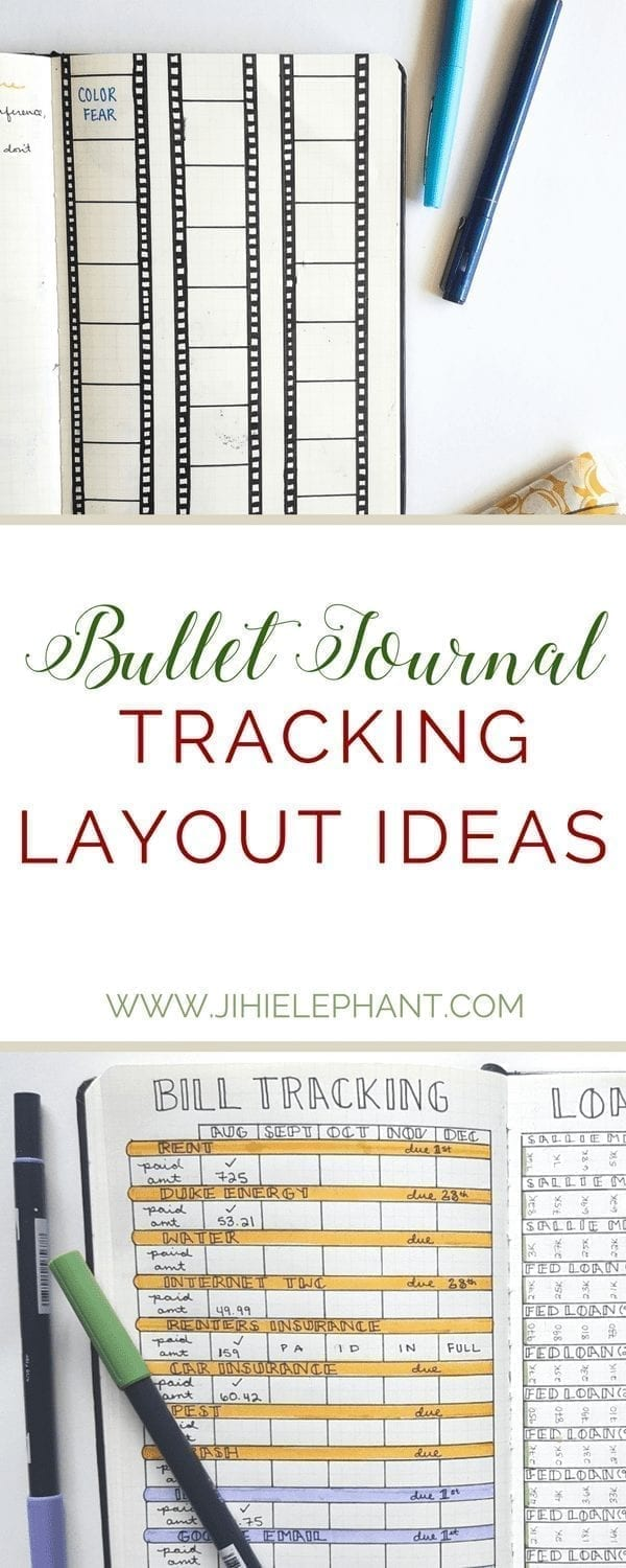 Bullet Journal Tracking Layout