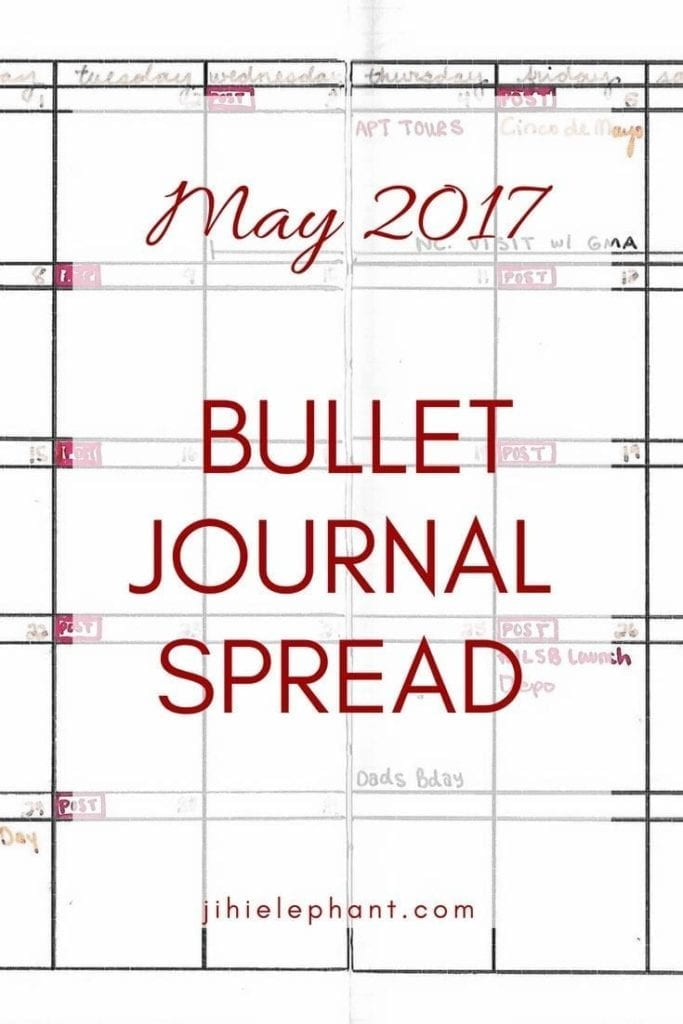 For May's bullet journal layout not much is different than April. It is simple, short, and organized. Regardless, let's check it out!