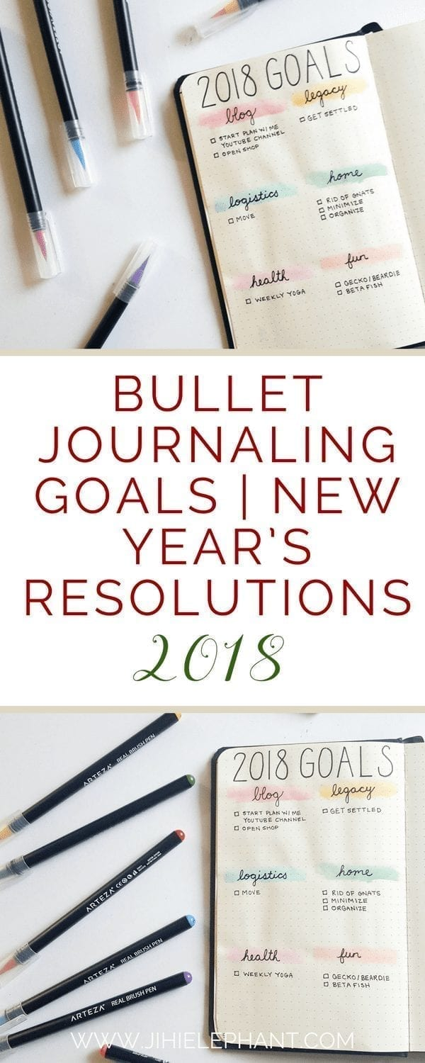 Bullet Journaling Goals | New Year's Resolutions 2018