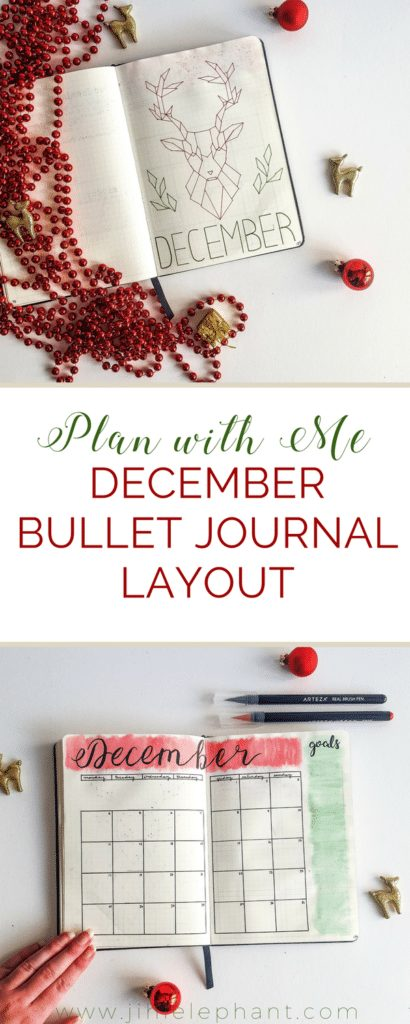 Plan with Me | December Bullet Journal Layout