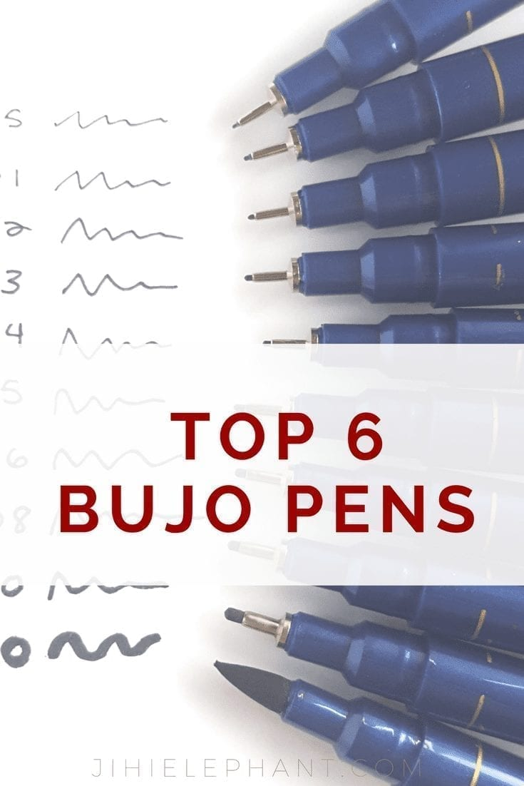 My Top 6 Colored Pens for Bullet Journaling
