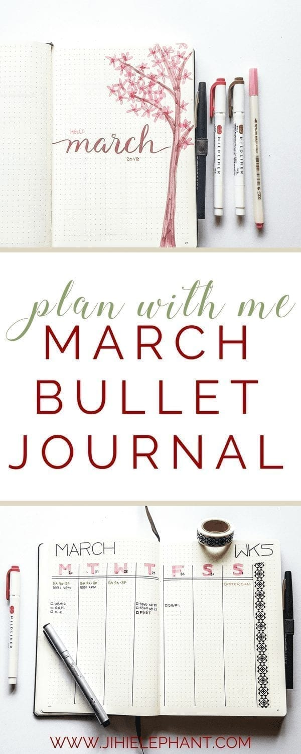 Plan-with-Me | March Bullet Journal
