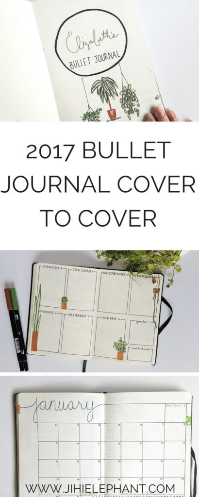 I know, I know, its May and I am just now posting my 2017 overview… I have no excuse, but here it is! Here is an overview of each month's bullet journal layout in 2017 cover to cover!