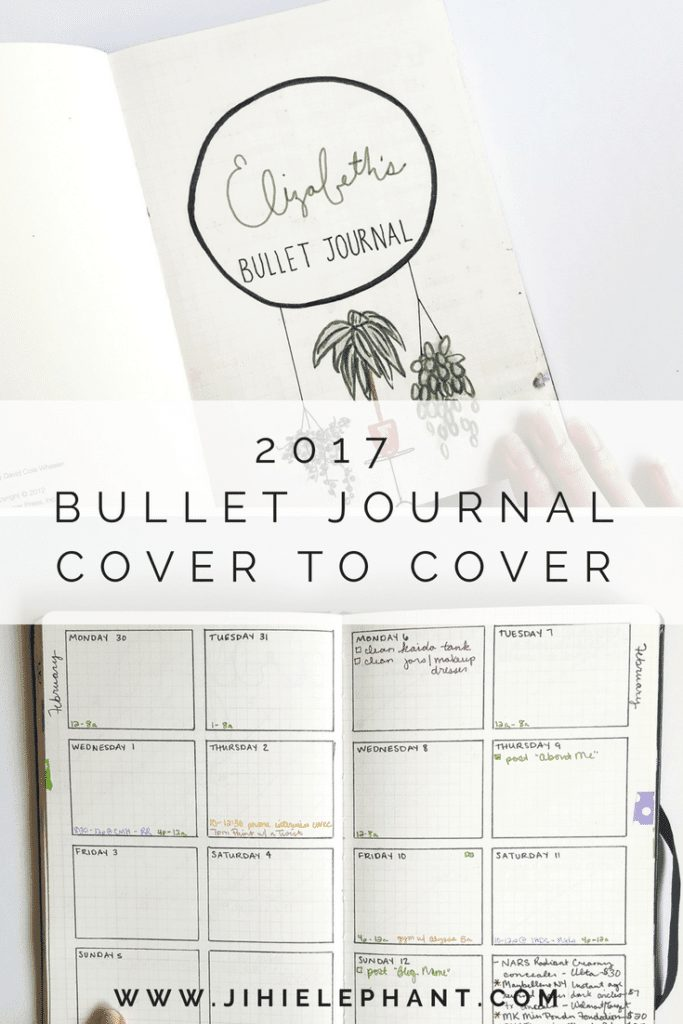 2017 Bullet Journal Cover to Cover