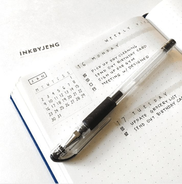 Minimal Weekly Bullet Journal Layout Ideas
