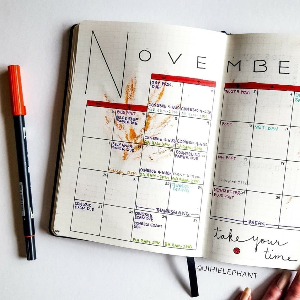 november red month