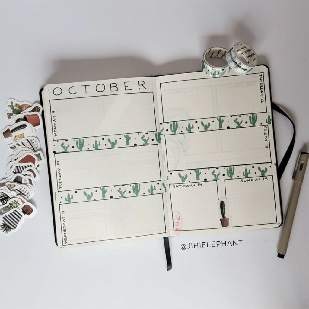 25+ Houseplant Inspired Bullet Journal Layouts