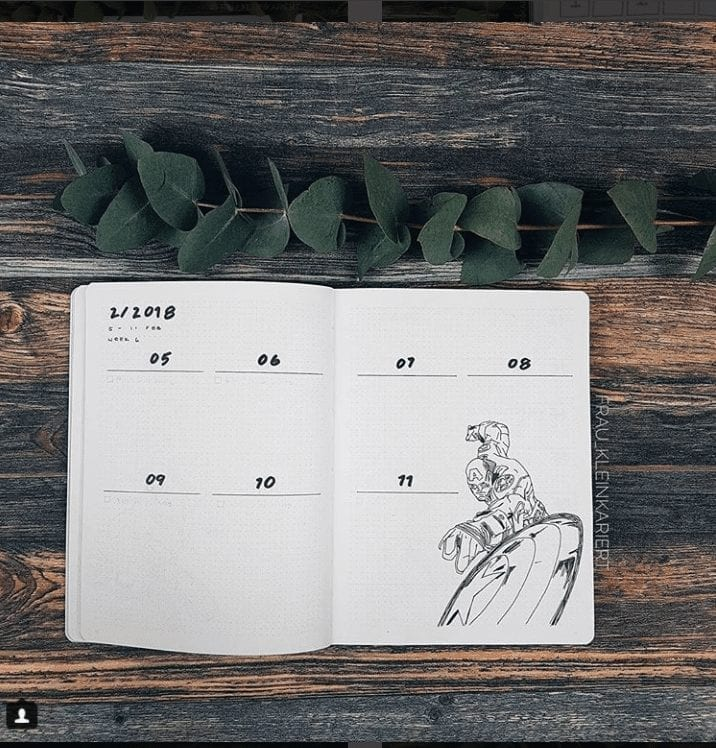 IMinimal Weekly Bullet Journal Layout Ideas