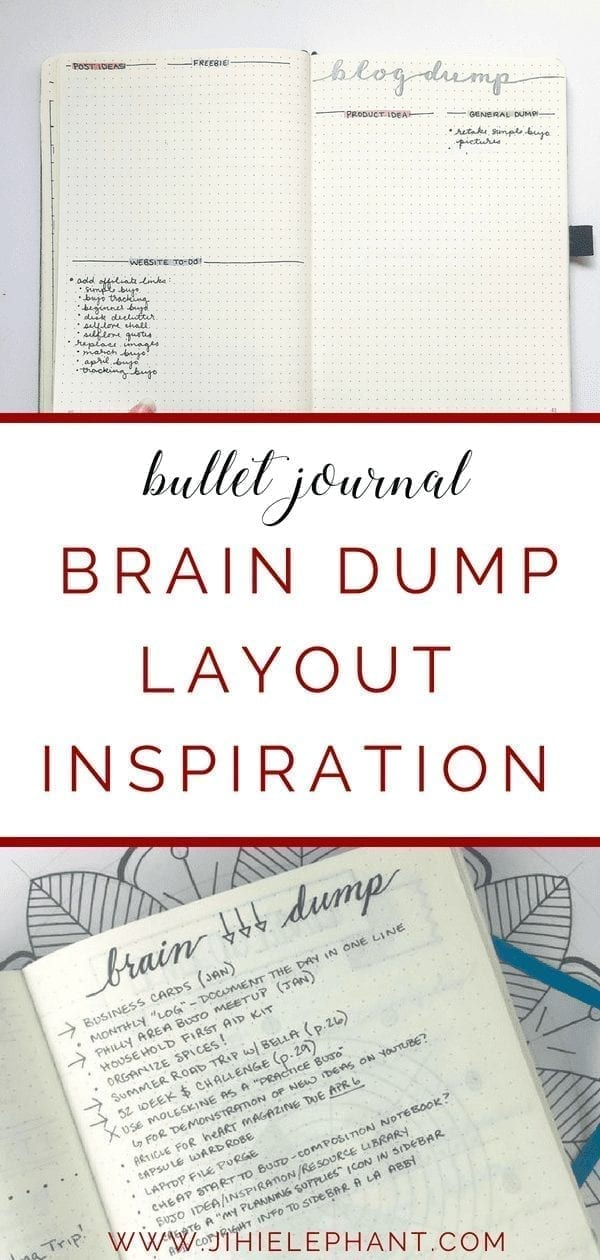 Bullet Journal Brain Dump Layout Inspiration