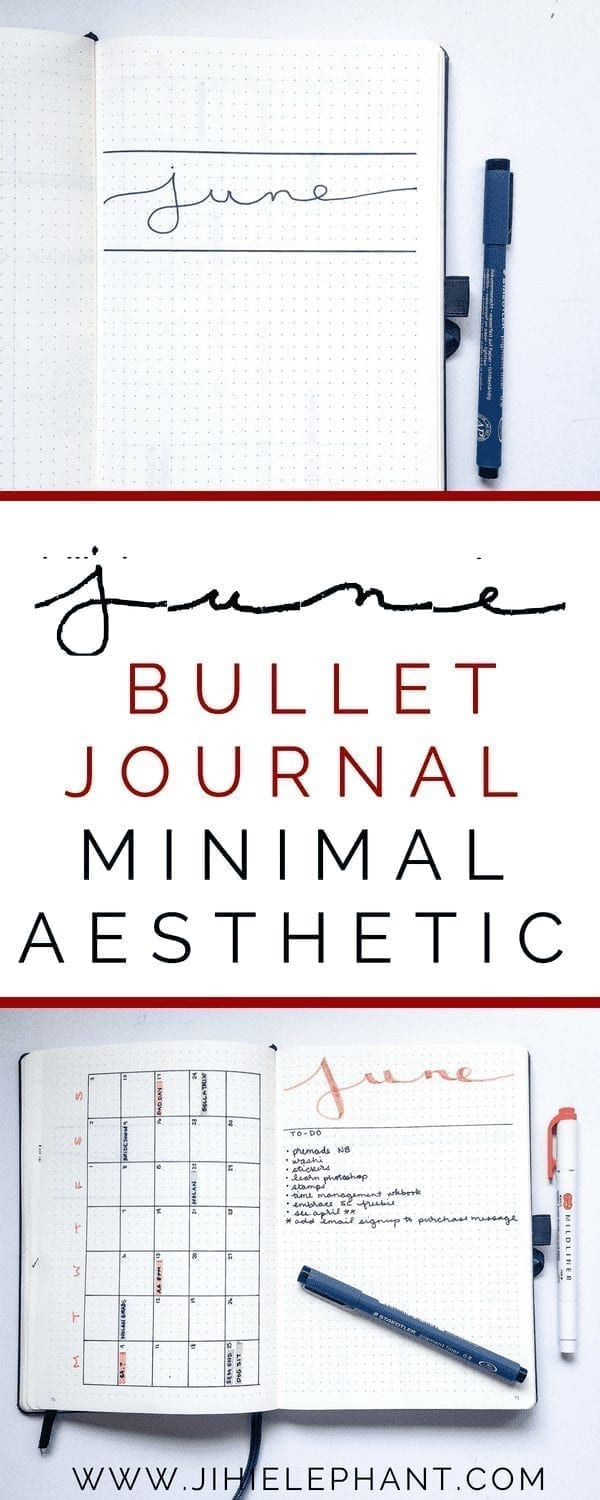 June Bullet Journal Plan-With-Me | Minimal Aesthetic