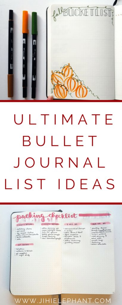 The Ultimate Bullet Journal List Ideas + Examples