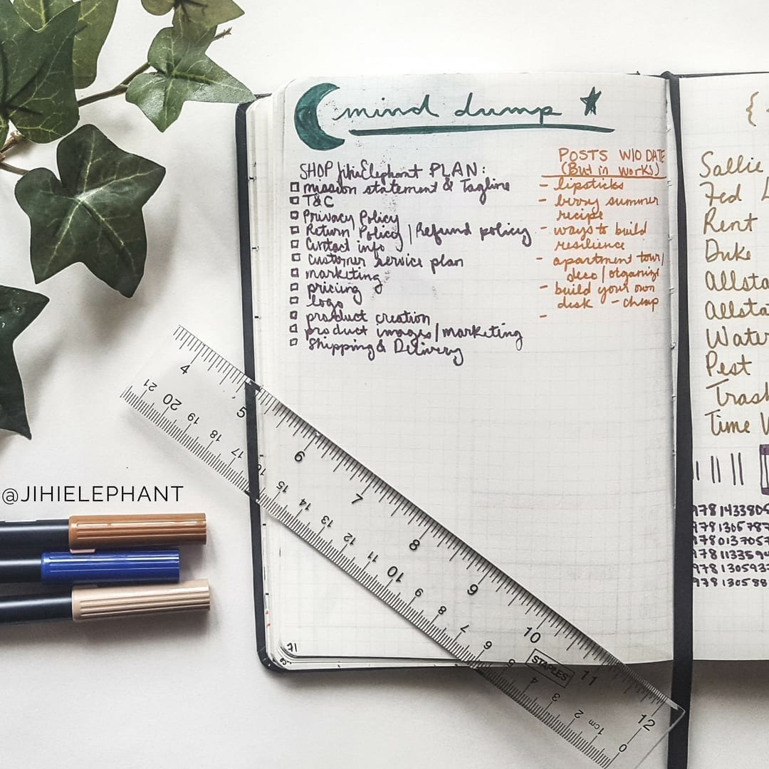 Brain Dump Layout Inspiration for Bullet Journals