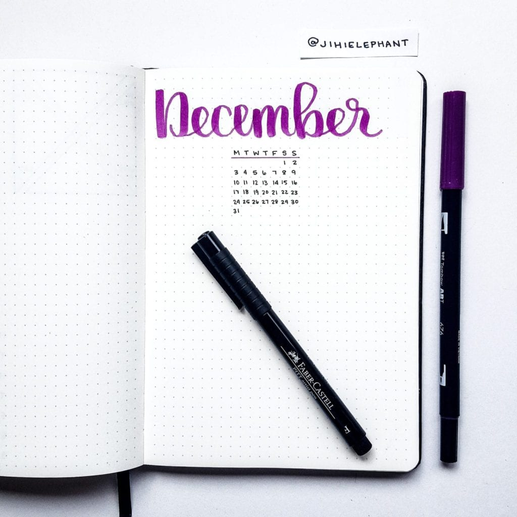 purple december title month Nicole