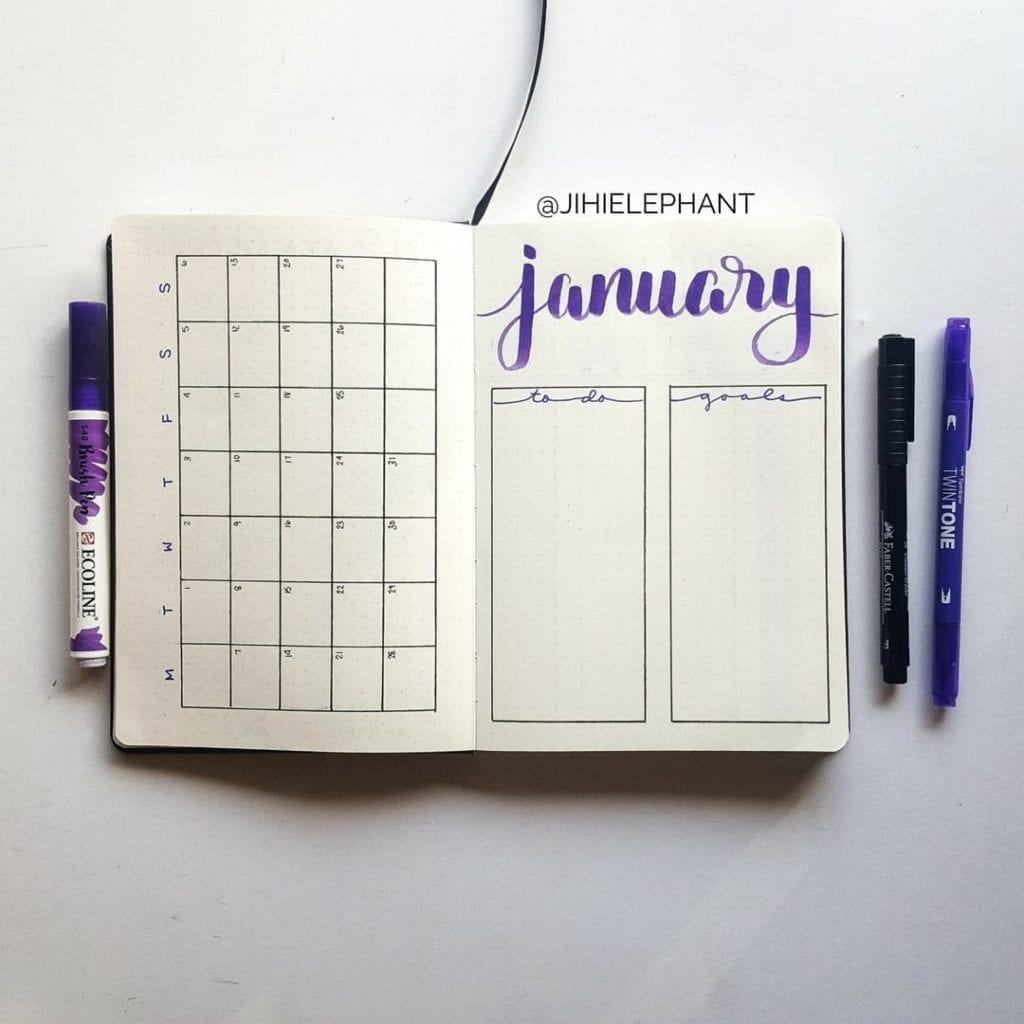 Madeline purple january month