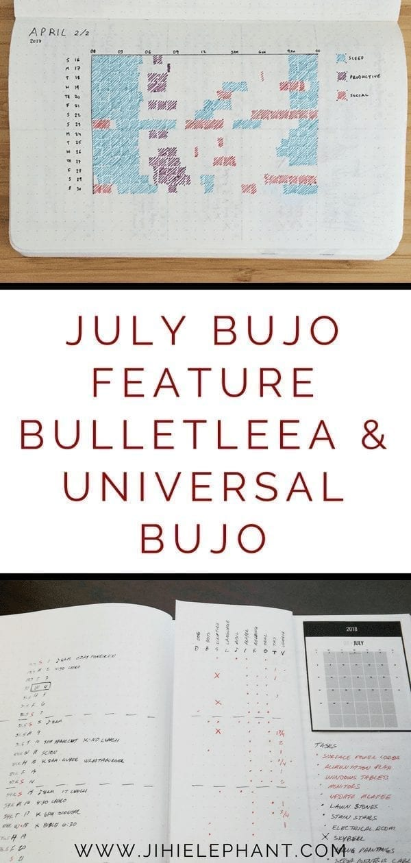 July Bullet Journal Feature | BulletLeea & Universal Bujo
