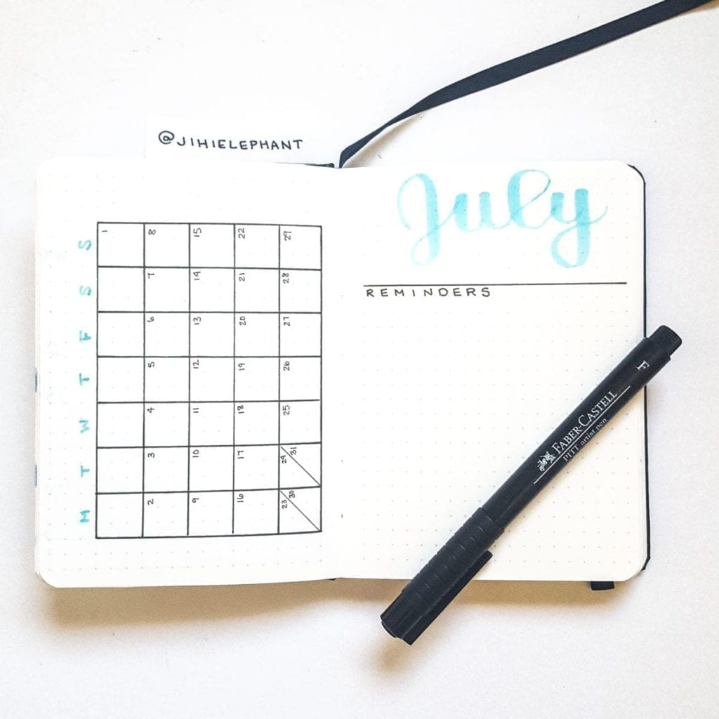blue july month