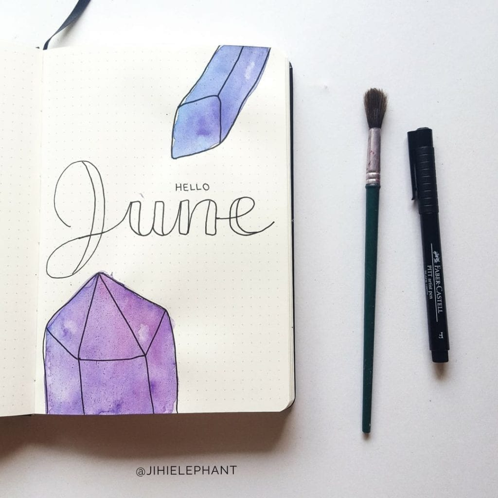 purple june crystal title Sam