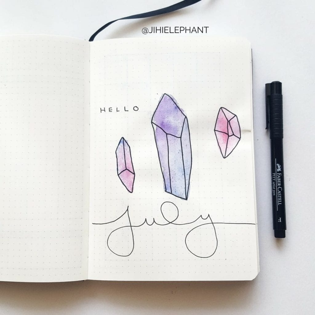 purple pink july crystal title Sam