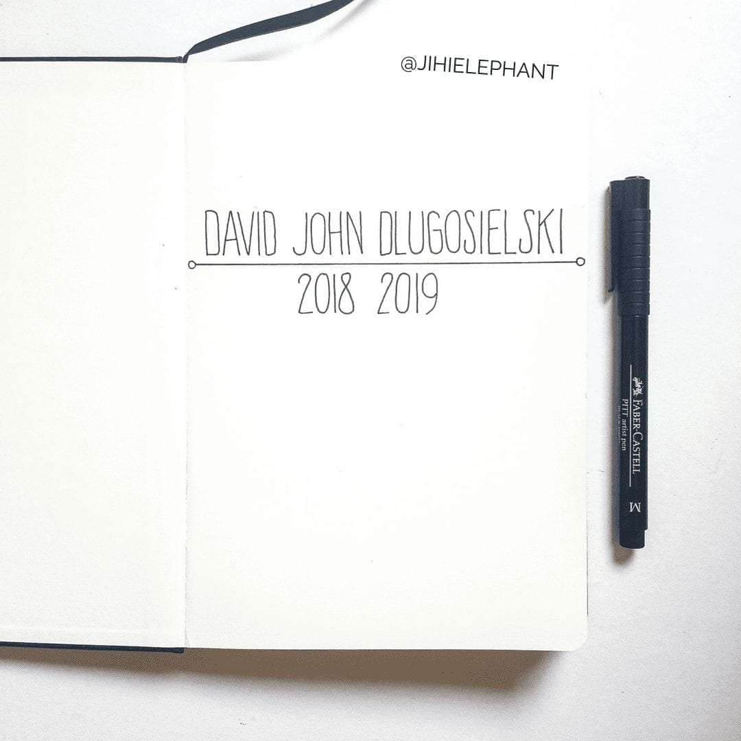 David's Bullet Journal | Client Gallery