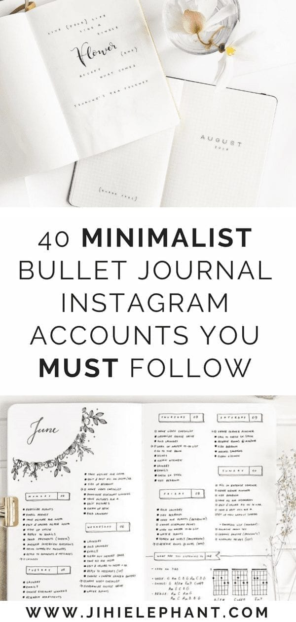 40 Minimalist Bullet Journal Instagram Accounts You Must Follow