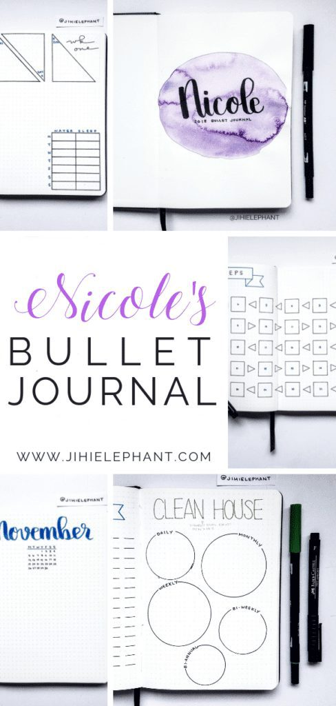 Nicole's Purple, Blue, & Green Bullet Journal