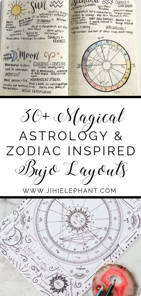 Magical Astrology & Zodiac Inspired Bullet Journal Ideas