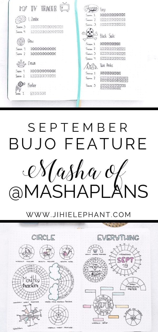 September Bullet Journal Feature | Masha of @mashaplans