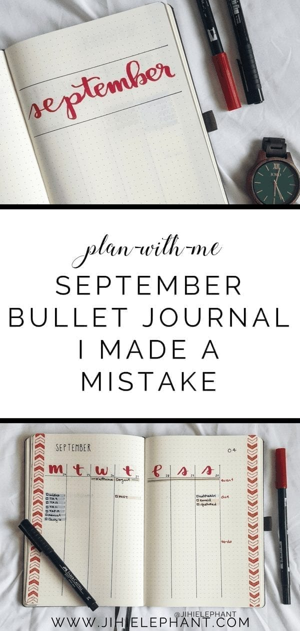 September Bullet Journal Plan-With-Me | I Made A Big Mistake