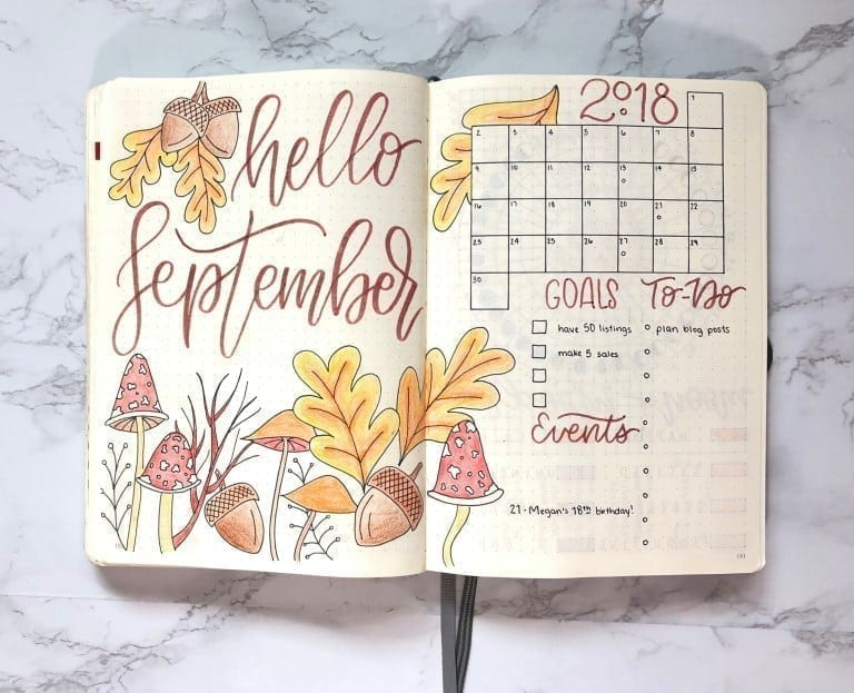 35 Beautiful Autumn Inspired Bullet Journal Spread Ideas