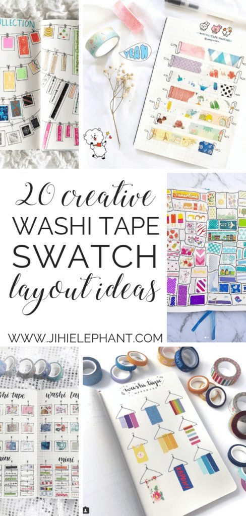 20 Creative Washi Tape Swatch Layouts For Your Bullet Journal