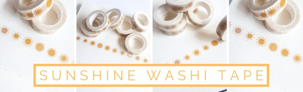 Sunshine Washi Tape banner