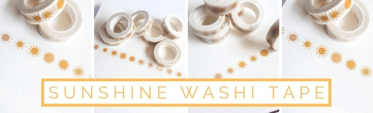 Sunshine Washi Tape