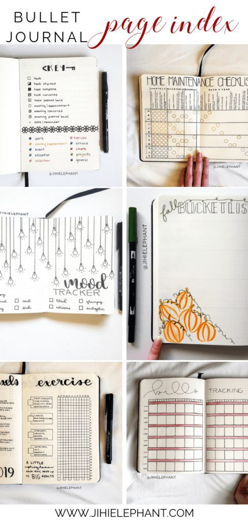 The Ultimate Bullet Journal Page Index