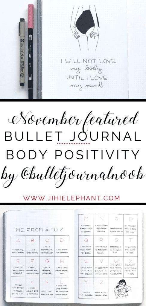 November Bullet Journal Feature | TM of @bulletjournalnoob