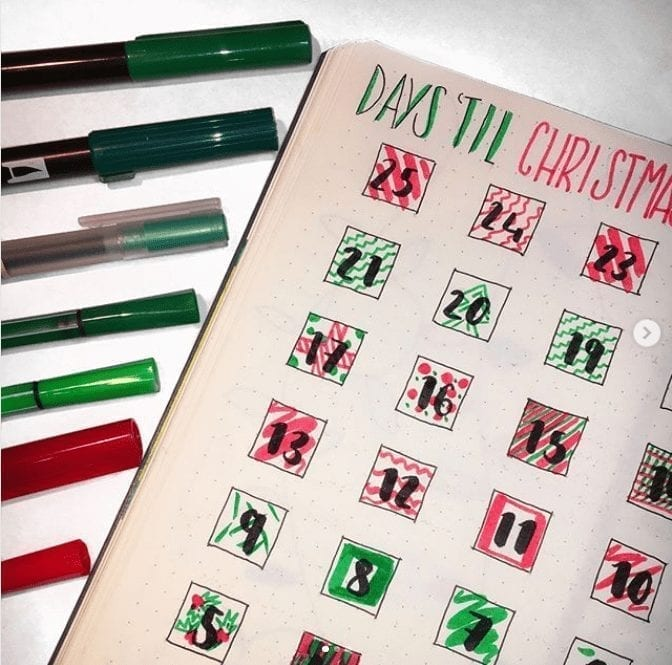 16 Festive Christmas Planning Bullet Journal Layout Ideas