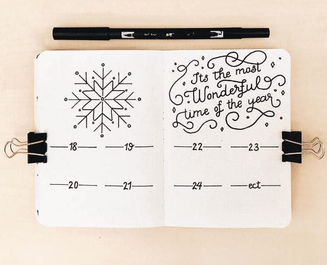 33 Festive Christmas Bullet Journal Layout Ideas