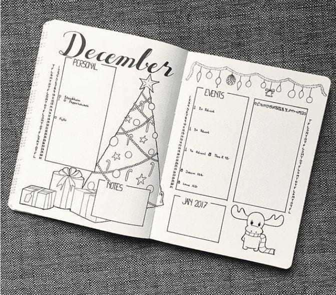 malwal94bujo december monthly overview
