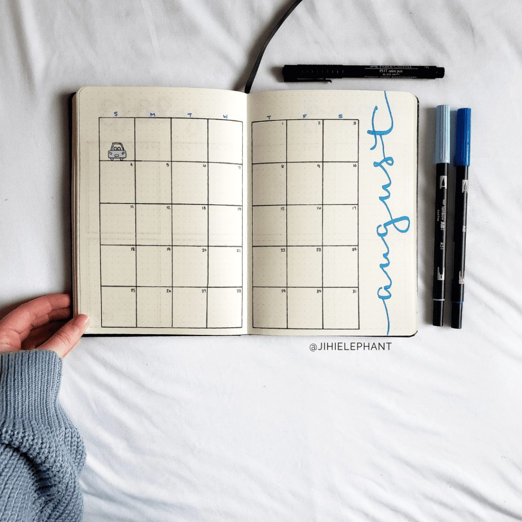 blue august month Thuy
