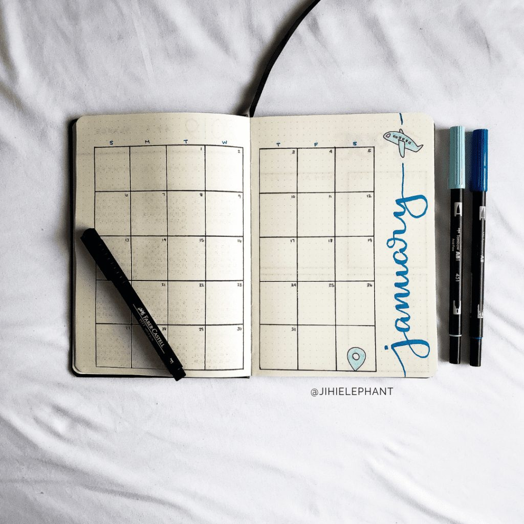 blue january month Thuy