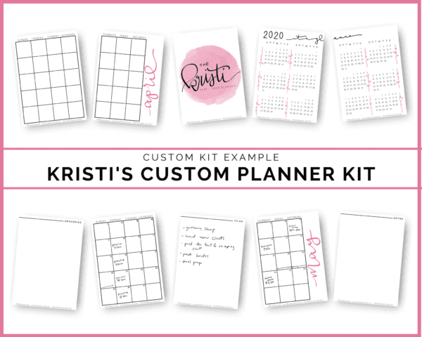 Do you love the idea of printable planning pages, but can't find anything that suits your needs? Get the completely Custom Printable/Digital Planner Kit tailored to your needs. You can choose from the provided templates or request something completely new and made just for you! Then you can customize the font, color, paper size, and more!