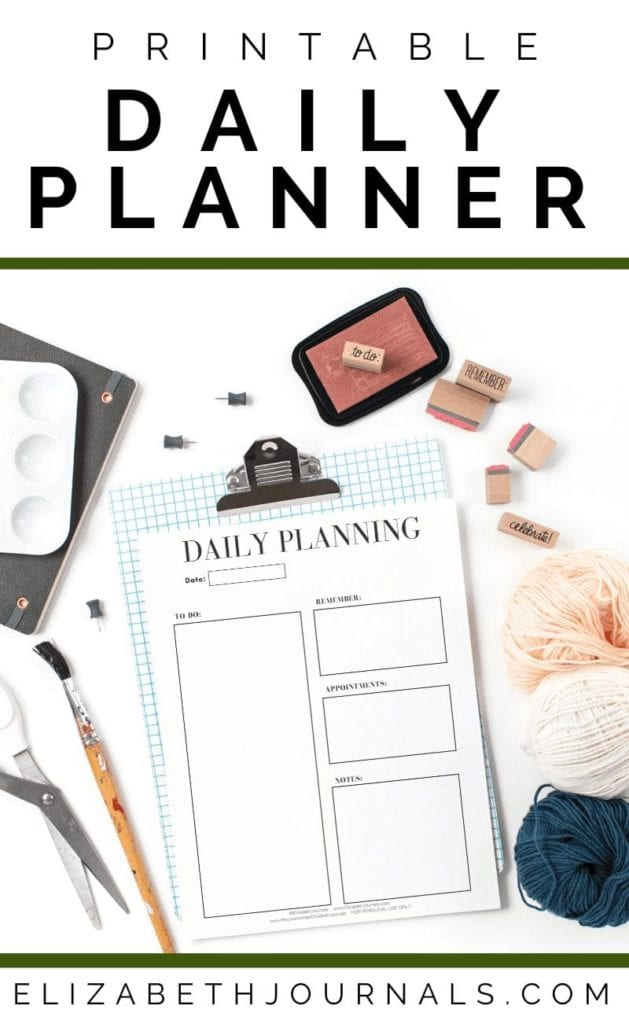 This basic daily planner includes a section to place the date and sections: 'To-Do,' 'Remember,' 'Appointments,' and 'Notes.' This planner is great for a busy student who doesn't have time for anything too detailed or complicated. The basic planner includes only the most essential sections for prime organization.