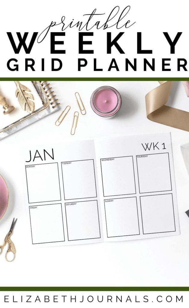 If you are interested in a very simple design to track your daily to-do's in, then this printable is perfect for you. This minimal weekly grid includes...