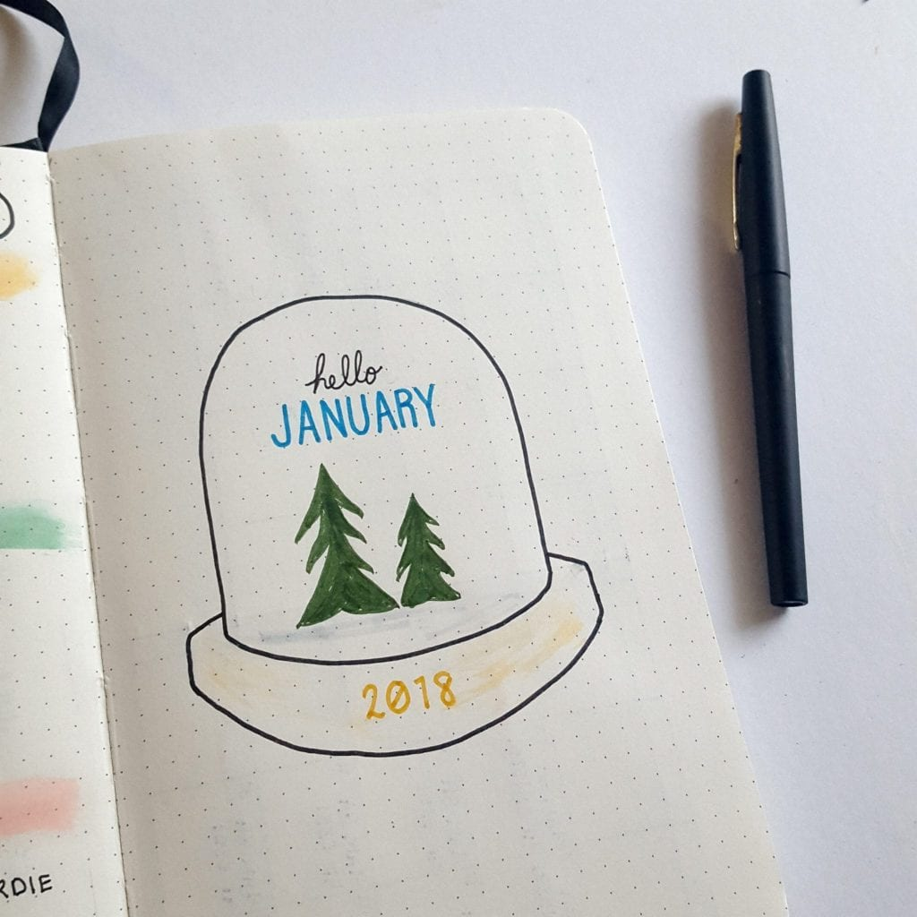 january cover snow globe
