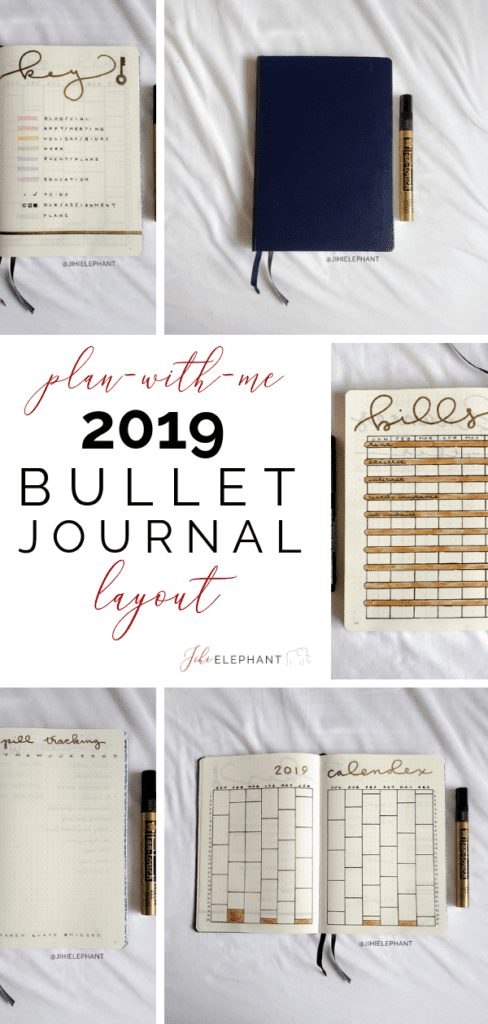For my 2019 setup, I'm cracking open a new notebook! This post is going to break down the introductory layouts for my 2019 bullet journal and show them off!