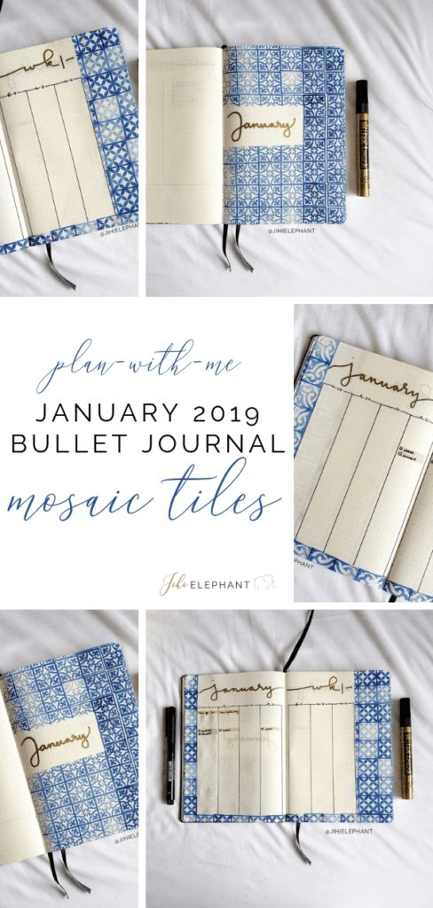January 2019 Bullet Journal | Plan-With-Me | Mosaic Tiles