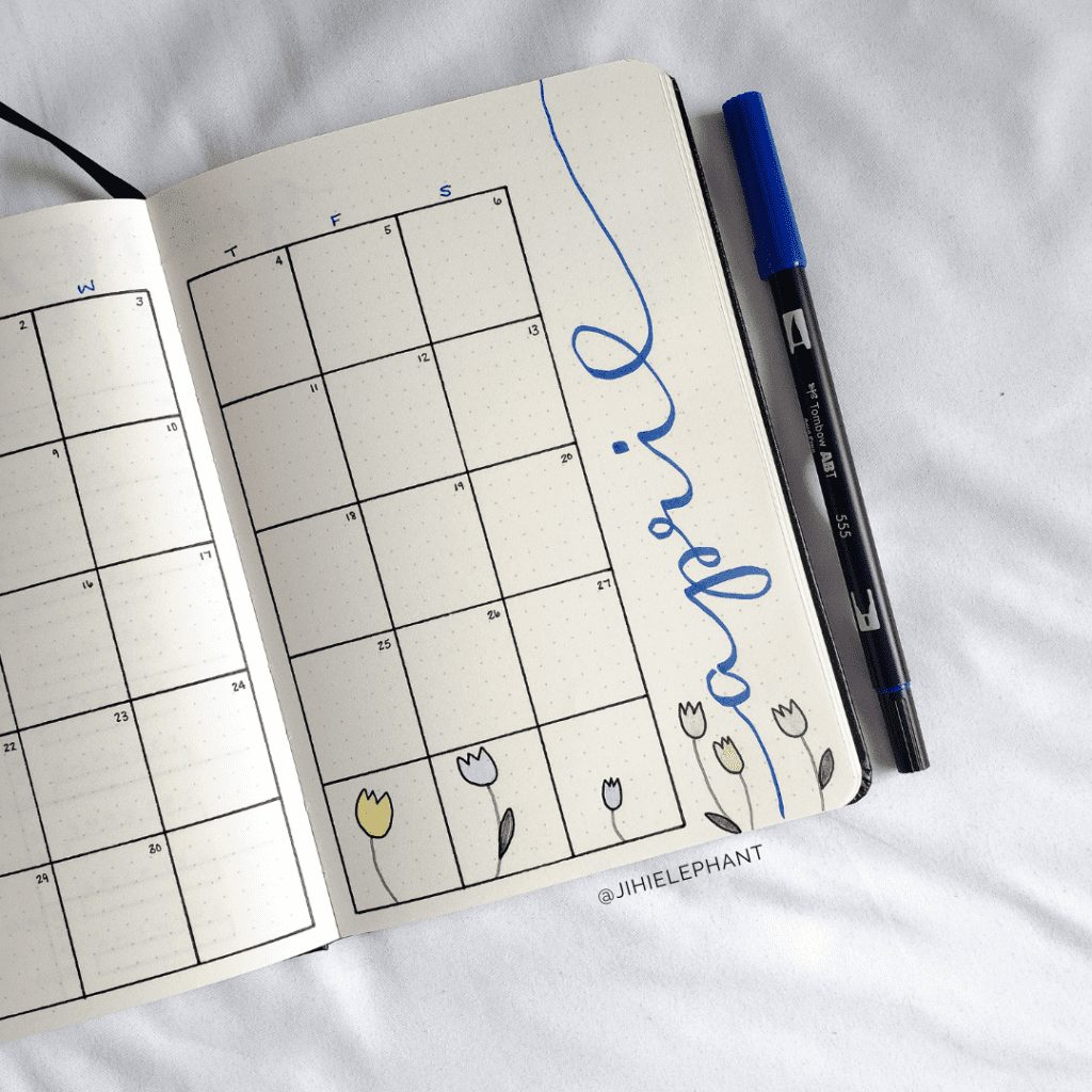 Blythe's Purple and Blue Bullet Journal
