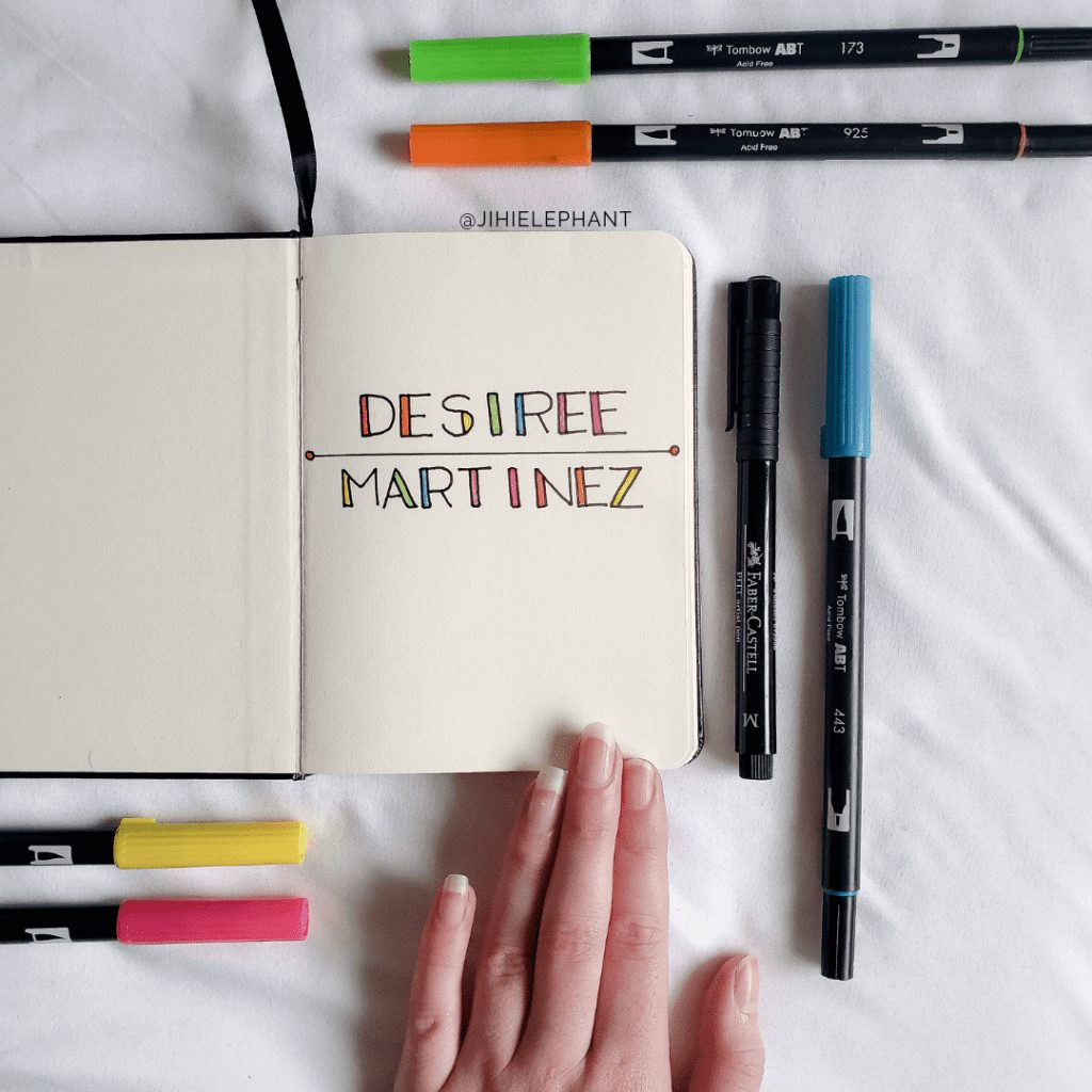 Desiree's Colorful and Modern Bullet Journal