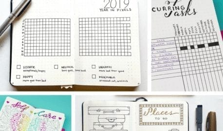 30+ Super Trackers For Your Planner: Daily, Monthly, Yearly  featured image collage